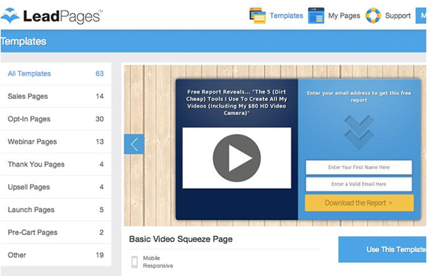 Leadpages Support Sales